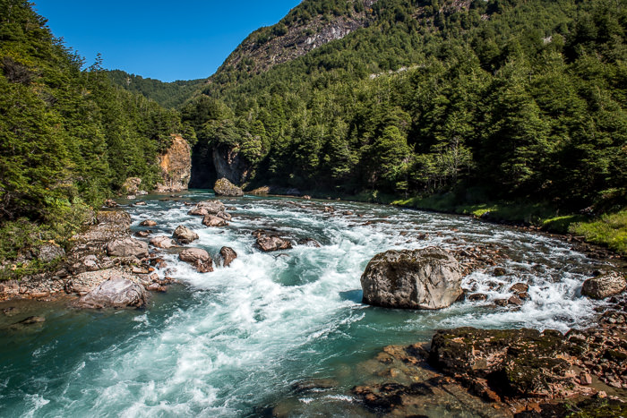 Floating and fly fishing a whitewater river in Patagonia Chile