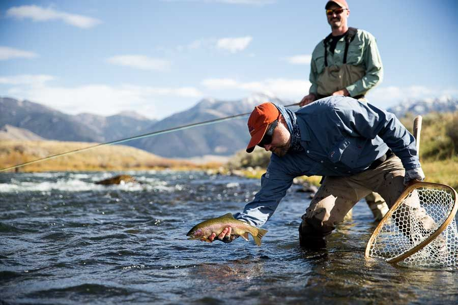 october fly fishing in montana go big or go small