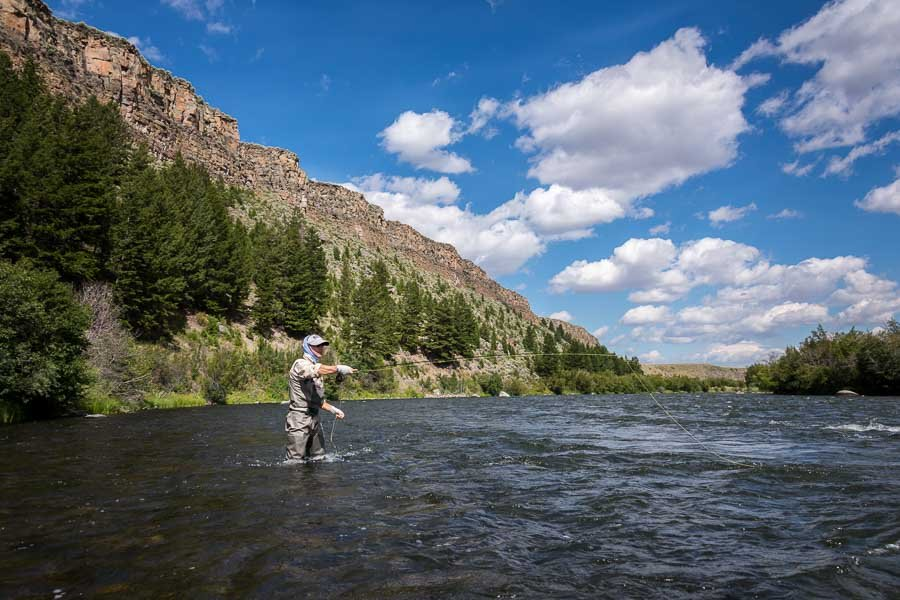August wade fishing on the Upper Madison