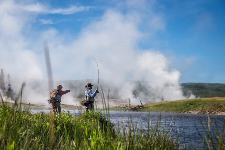 Fly fishing Yellowstone National Park in June