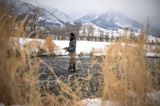 Winter fishing on Depuy's