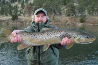 doug casey big fall brown trout