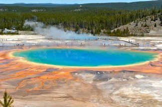 Grand Prismatic is one of Yellowstone's most spectacular sights