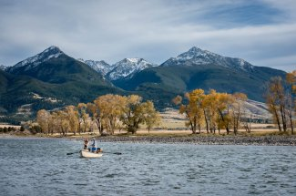 Fly Fishing and floating near Livingston Montana