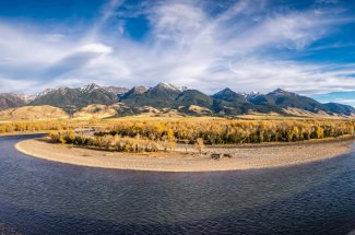 Fishing bend on the Yellowstone River