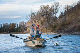 Fly Fishing float trips on Yellowstone river
