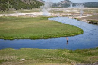 Fire Hole river fishing in Yellowstone National Park