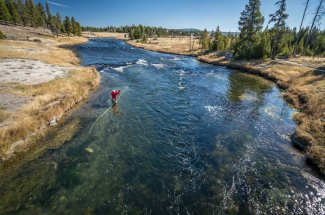 Fishing on the Fire Hole River in YNP
