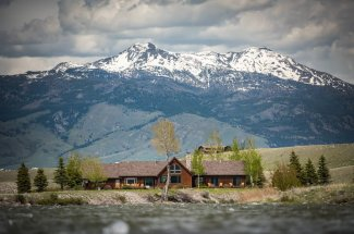 The only lodge on the banks of the Madison River