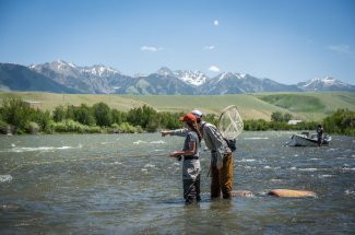 Guide and guest on the Upper Madison River