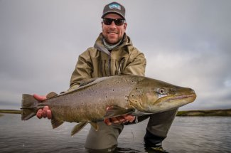 Fly Fishing for sea run brown trout is terrific in Tierra Del Fuego