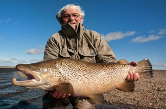 Another awesome anadromous brown trout caught in the Rio Grande River in Argentina.