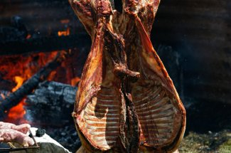 Asado lamb is a traditional meal during this adventure.