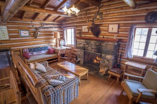 Rent the fishing lodge at TLazy Ranch