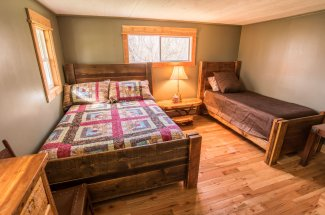You will sleep comfortably at the Boulder River Outpost