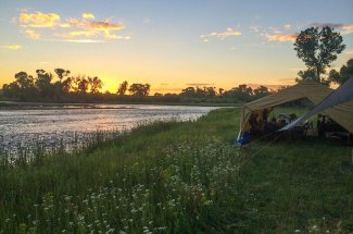 Fly fishing and camping in Montana