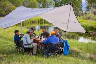You won't leave hungry from a camping and fly fishing trip with Montana Angler