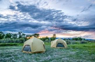 Sleep in the comfort of our spacious tents