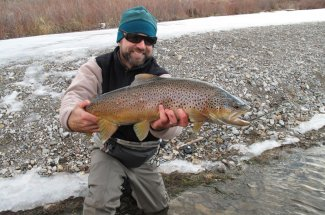 Fly fishing for big fish never gets old.