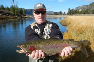 Rainbow trout caught in Yellowstone National Park