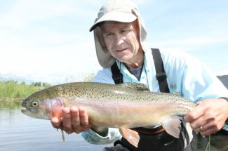 Big rainbow trout swim the rivers of southwest Montana