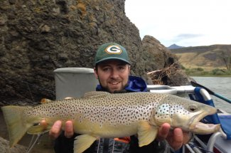 Another trophy trout caught while floating down the river