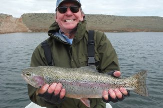 Big rainbow trout from a Montana reservoir