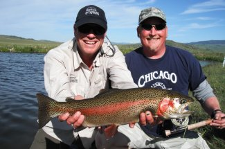 This rainbow trout is the trophy class