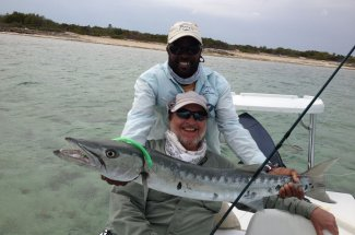 Fly fishing for baracuda