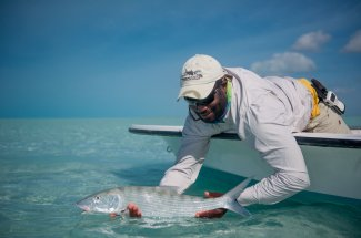 Flats fishing in the Bahamas