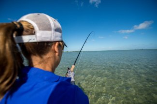 Fighting the bonefish