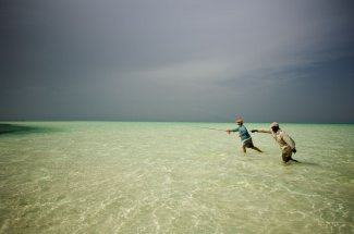 Casting to bonefish