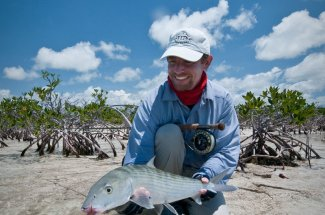 Big bonefish caught while fishing in the Bahamas