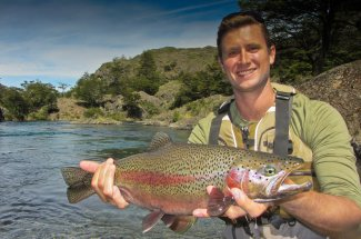 A nice southern Patagonia rainbow