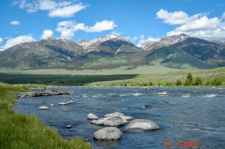 The upper Madison river