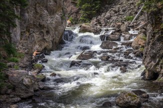 Fly fishing in the Fire Hole Canyon