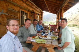Dining at the Sweetgrass base camp