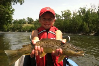 Fly fishing with the kids