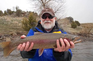 Rainbow trout fishing in Montana