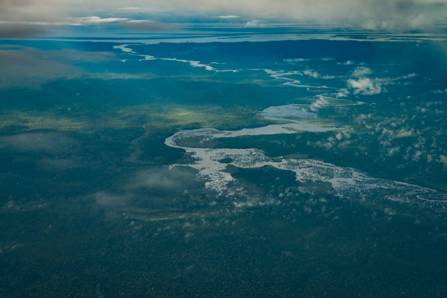 The massive Amazon River can be as wide as 25 miles across during the wet season. It is the world's highest volume river