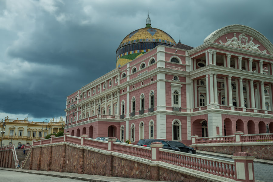 The beautiful Manaus Opera House is not to be missed. The elborate structure was built in the days of the Rubber Barons when fortunes were made as rubber was extracted from the rain forest's rubber trees
