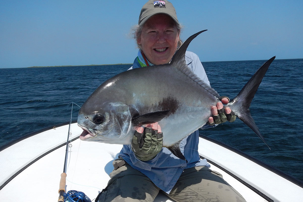 Permit caught while fishing in Belize