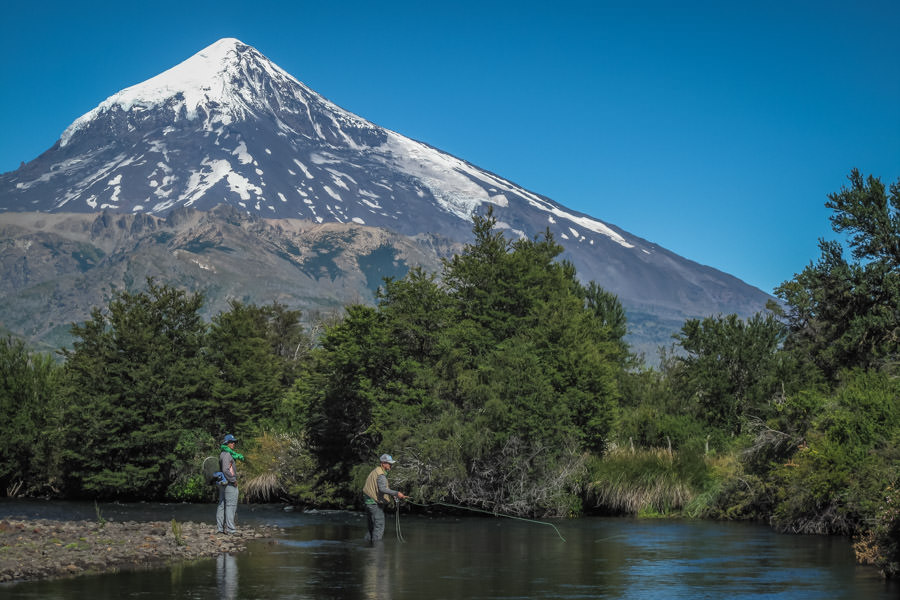 The Malleo with the towering Volcan Lenin in the background is one of Argentina's most famous trout rivers