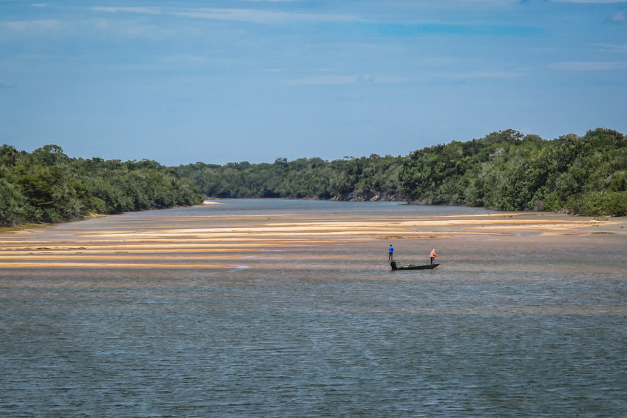 Endless sight fishing opportunities exist. The tanin stained clear waters over sand bars allows for terrific visibility in the flats