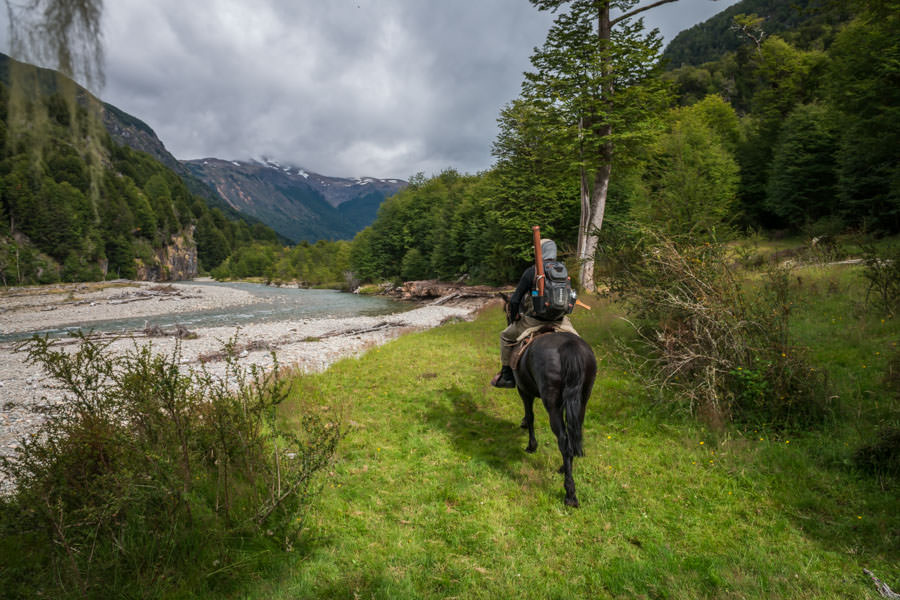 Riding up the Magote - scenery and fishing is similar to the South Island of New Zealand