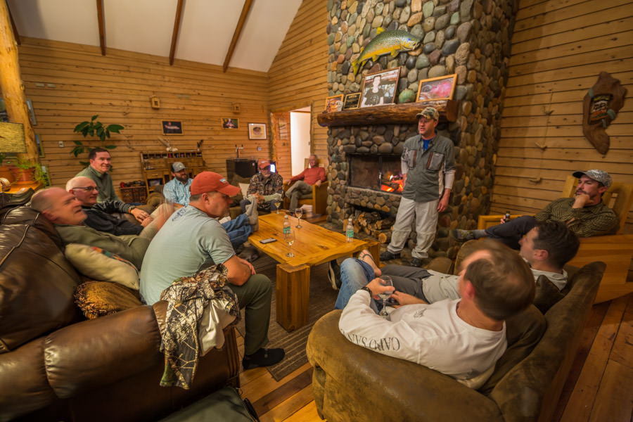 We filled the lodge up with a great crew of return MA guests. The lodge holds 12 per week