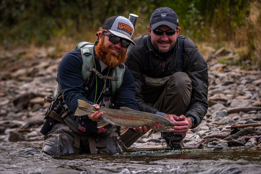 "19"" trout like this might be the fish of the day in Montana, but in Alaska it is average. The opportunity to sight cast to large trout all day was certainly a treat!"