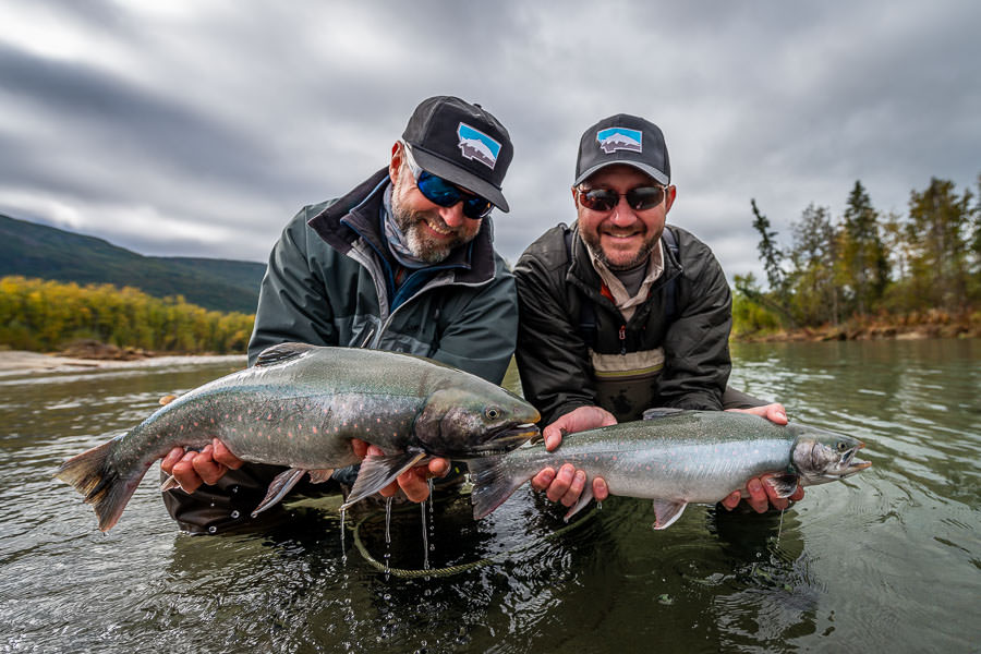 Huge char are the primary target when visiting the Iliamna. These big Dolly Varden were lined up in long runs below riffles