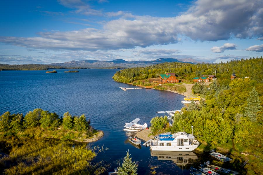 Intricate Bay Lodge sits in a protected bay on Iliamna Lake. With a fleet of float planes, jet boats and lake boats no fishery is out of reach!