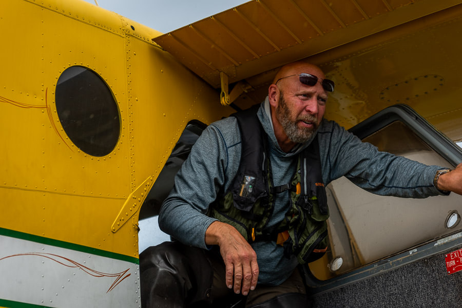 One of the lodge pilots (Marc) awaits in Iliamna Village for the final leg of the journey; a float plane ride in a DeHavilland Beaver across Iliamna Lake to arrive at the lodge